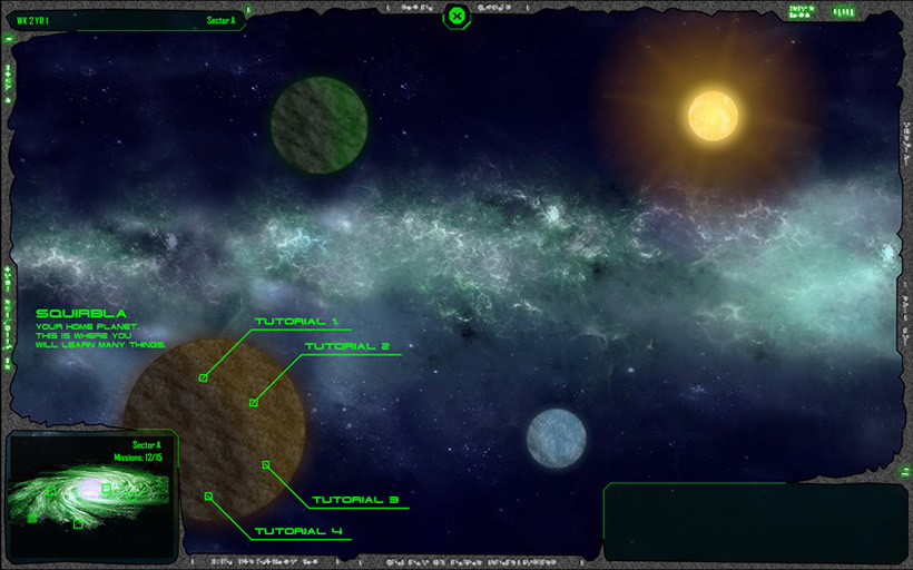 Stardust Colonies new GUI concept: space
