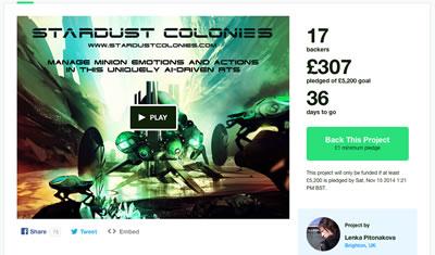 Kickstarter campaign screenshot