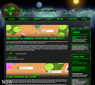 Stardust Colonies new website